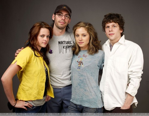 "Kristen Stewart and her ""Adventureland"" Castmates."